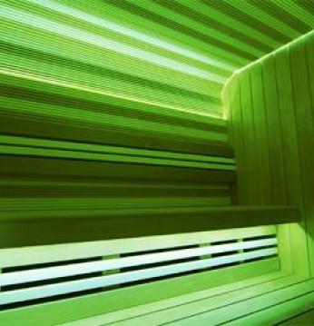 Žalios spalvos apšvieti..