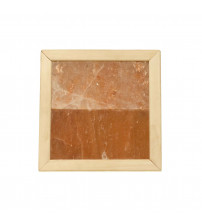 Himalayan salt light without lightning. Abachi wood