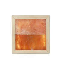 Himalayan salt light LED. Abachi wood