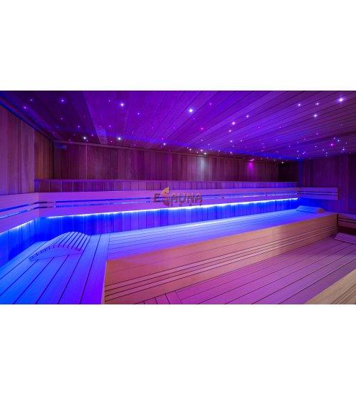 EOS de color claro y luz blanca tipo rayas LED