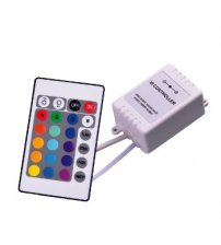 LED apšvietimo spalvų keitimo IR pultas