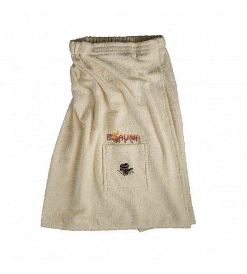Sauna Apron for male light colour, cotton