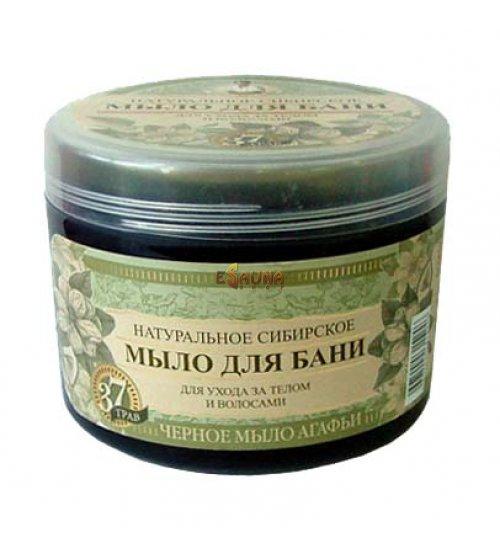 "Siberian natural ""black soap"" bath body care and hair hand made 500ml"