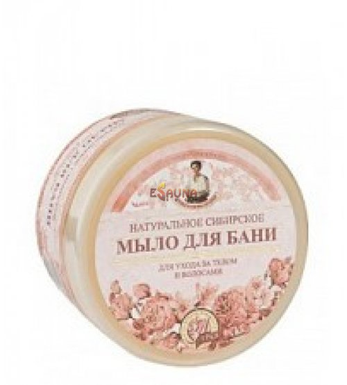 Natural siberian pink flower scented soap, 500 ml