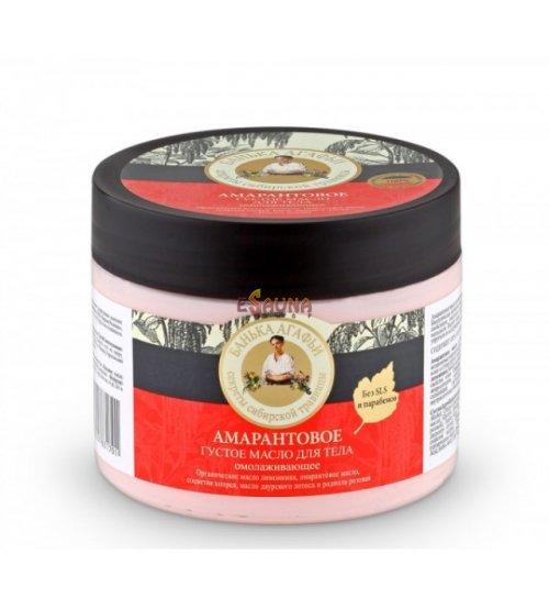 Amarantowe naturalne grube kąpielowe odmładzające masło do ciała