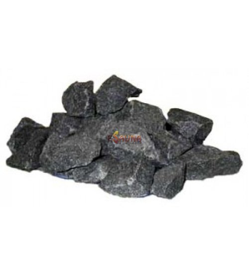 Gabbro diabase stones 20 kg, 6 - 15 cm