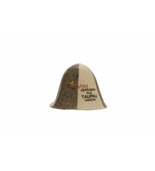 """Kepurė su užrašu """"Gerdamas alų..."""""""
