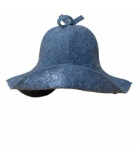 Pirties kepurė su gėle (pilka)