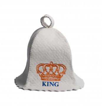 Saunamütze KING..