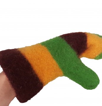 Tricolor wool glove for..