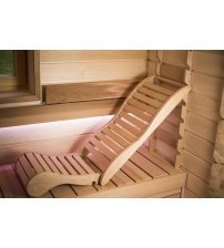 Relaxation bunk for sauna, black alder