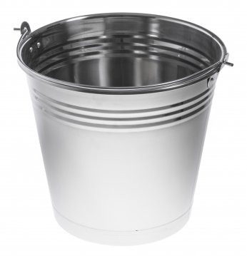 Stainless steel bucket ..