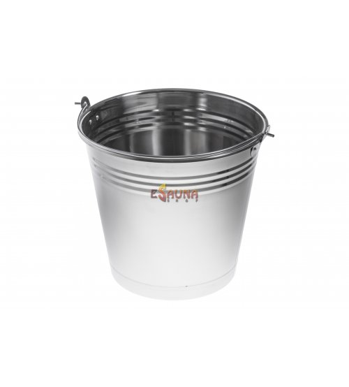 Stainless steel bucket 12l
