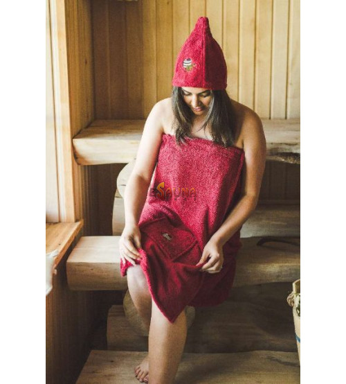 Sauna Apron for Female BURGUNDY