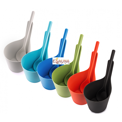 Rento bioplastic multicolor pails and ladles set 5 l