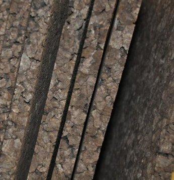 Thermomaterial aus Kork..