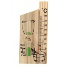 Sablier - thermomètre à alcool