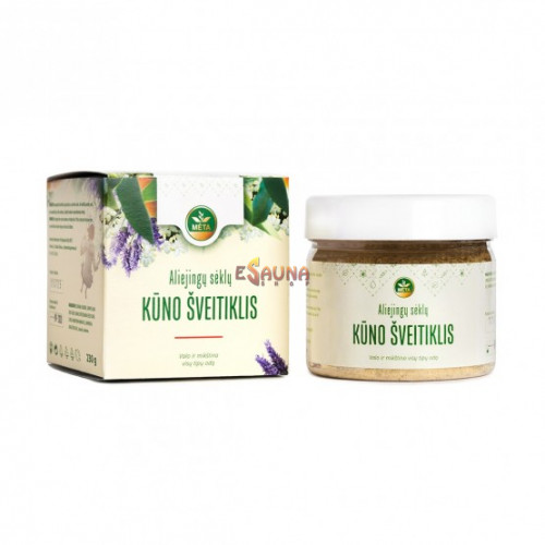 Body scrub with vegetable seeds, 230 g