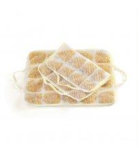 Възглавница за сауна от кехлибар / лен Естествена 100%