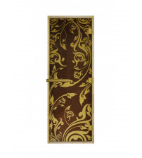 Szklane drzwi do sauny - Luxury Gold