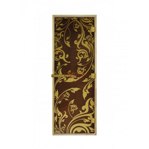 Stiklinės pirties durys - Luxury Gold