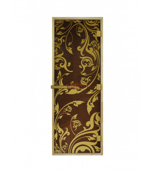 Glassauna Türen - Luxury Gold
