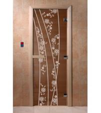 Uși de sticlă pentru saună - Primăvară, bronz
