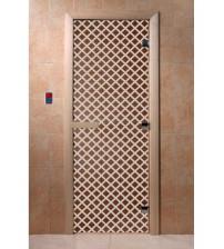 Stiklinės pirties durys Miražas, bronza