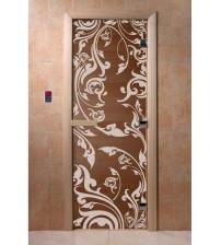 Stiklinės pirties durys Venecija, bronza