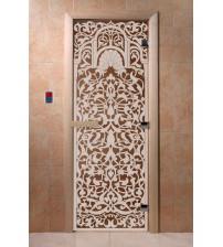 Szklane drzwi do sauny - Florencja, brąz