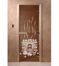 Uși de sticlă pentru saună - cuptor pentru saună, bronz