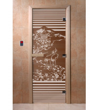 Szklane drzwi do sauny - Chiny, brąz