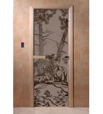 Γυάλινες πόρτες σάουνας - Αρκούδες