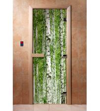 Skleněné saunové dveře s fotofilmem A084