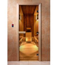 Szklane drzwi sauny z filmem fotograficznym A036
