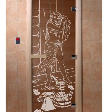 Portes de sauna en verr..