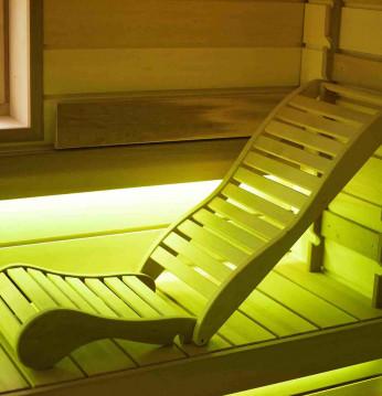 Lettino relax per sauna..