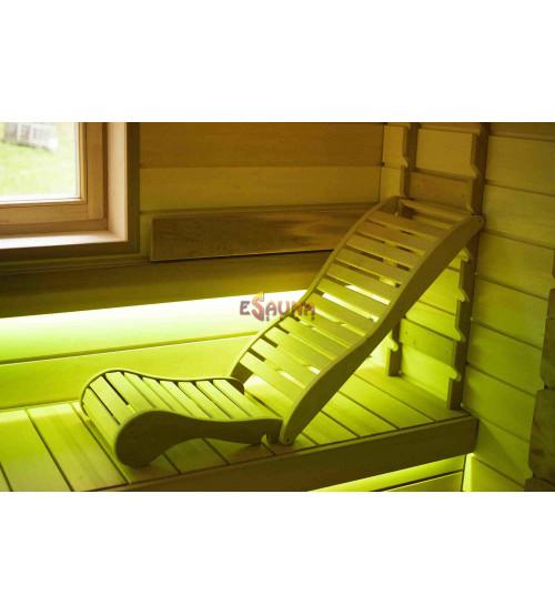 Couchette de détente pour sauna, abachi