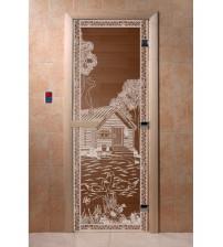 Stiklinės pirties durys Gulbės III