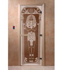 Stiklinės pirties durys Egiptas, bronza