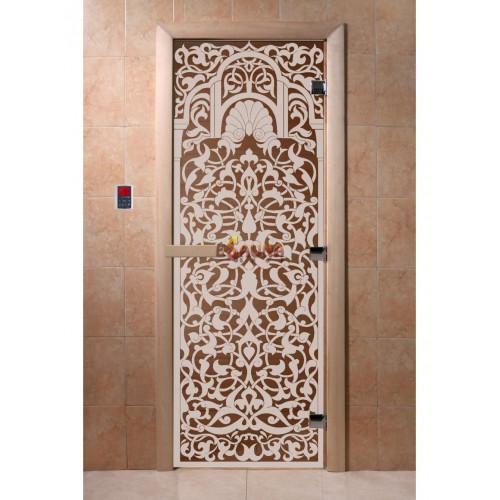Glassauna Türen - Florenz, Bronze