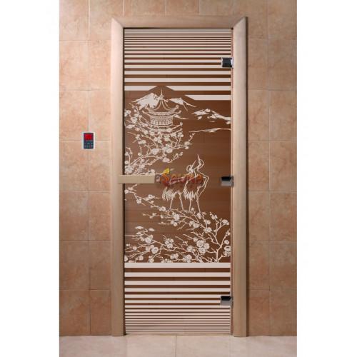 Glass sauna doors - China, bronze