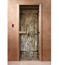 Glassauna Tür mit Fotofilm  A028