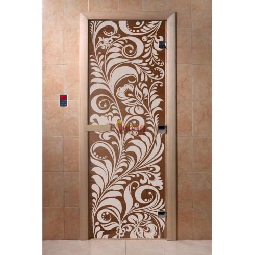 Glassauna Türen - Garten, Bronze