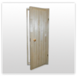 Деревянные двери сауны