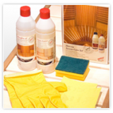 Sauna verzorgings- en beschermingssets