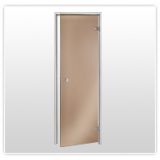 Uși de sticlă cu saună cu aburi