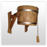 Sauna shower buckets