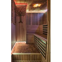 Infrared sauna with amber therapy