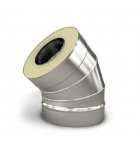 Insulated double wall elbow 45°